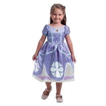Fantasia Infantil Princesinha Vestido Sofia Standard Disney