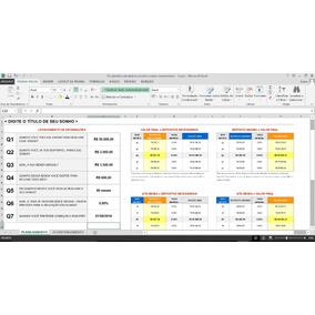 Planilha Excel Calculadora Metas E Sonhos