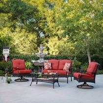 Sala De Rattan Para 4 Personasa Ideal Para Jardin O Terraza