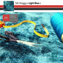 Tapete Sala Shaggy Fio Seda Azul Turquesa Tiffany 1,00x1,50m