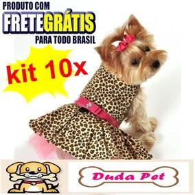 Kit 10 Peças Cachorro Vestido,coleira Atacado Revenda Pet