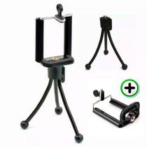 Mini Tripé Flexivel Articulado + Suporte Celular Cameras
