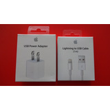 Cable Lightning Usb (1 M) + Power Adapter 5w - Apple Genuino