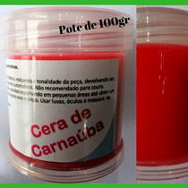 Cera Carnauba Restaurar Parachoque Painel Plástico Ressecado