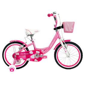Bicicleta Infantil Niña Turbo Princesa R-16 Rosa 15525