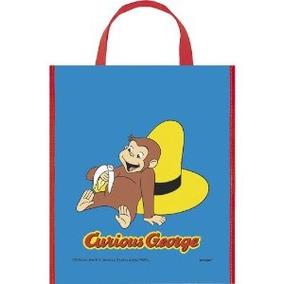 Grande Plástico Curious George Favor Bag 13 X 11