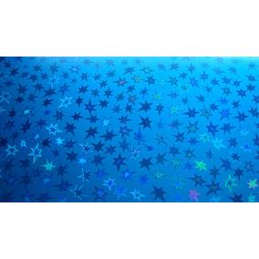 Cartulina Papel Kromecote Decorado Metalico Estrellas
