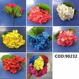 Kit 6 Flores Artificiais Hortencia Pronto Entregam -qx