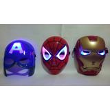 Kit 3 Máscara Guerra Civil Spiderman Ironman Capitão América