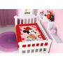 Cobertor Minnie Flores Vermelho Infantil Microfibra Jolitex