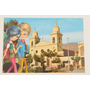 Postal Salta Retro Ilustracion Cafayate Catedral Circa 1970