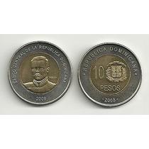 Moneda Dominicana Año 2008 Bimetalica 10 Pesos Sin Circular