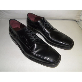 Zapato Hombre Cuero Italiano Negro Talle 10 1/2 - 33 Designs