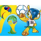 Kit Imprimible 2 Mundial Brasil Diseñá Tarjetas Invitaciones