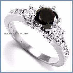 G C+ Anillo De Compromiso Diamante Negro En Oro 14k -50% 032