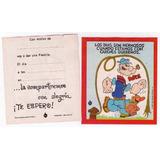 Tarjetas De Cotillón Con El Personaje De Popeye El Marino !!