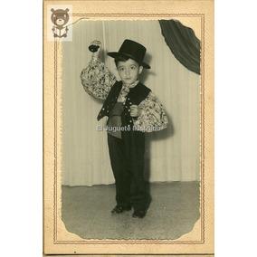 Nene Disfraz Gitano Castañuelas Portafoto Antigua Infantil
