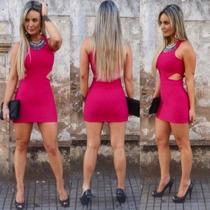 Vestidos Femininos Coladinho Juju Panicat Detalhe Lateral