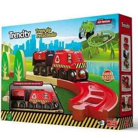 Kit Inicial Tren De Madera Trencity Rojo Verde Thomas Compat