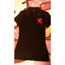 Limpia De Closet Blusa Express Dama Negra Tipo Polo Xs Mujer