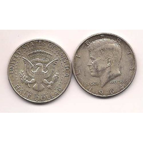 Moneda Plata Medio Dolar Estados Unidos Kennedy Año 1964