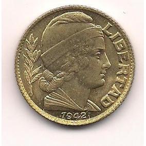 Moneda Bronce 20 Centavos Año 1942 Fecha Chica Sin Circular