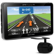 Navegador Gps Tela Monitor 5 Tv Digital Multilaser Camera Re