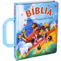 Biblia Infantil Primeiros Passos Com Jesus Menino Alça