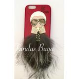 Funda Iphone 6 6s Y Plus Fendi Lover K Pedreria Mk Case