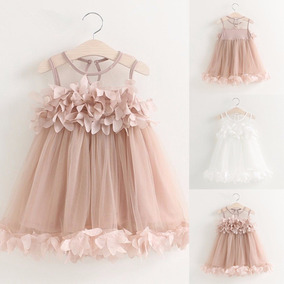 Vestido Flor Fashion Princesa Baby Niña Tulle Tutu 1 A 6años
