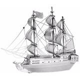 Rompecabezas 3d Metálico Barco Pirata Perla Negra