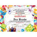 Diplomas De 6to Grado En Pergamino Italiano 25x35cm