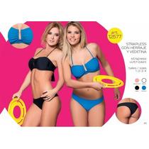 Malla Bikini Cocot 12577 Strapless C/vedetina T 85/90 Negro