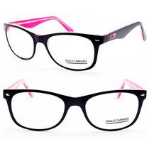 Armação Acetato Paulo Carraro Para Oculos De Grau - 5035