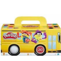 Massinha De Modelar Play Doh Ônibus C/ 20 Potes Coloridos