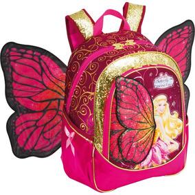 Mochila Escolar Barbie Butterfly Gd 3bolsos Rs Sestini