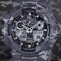 Reloj Casio G Shock Ga 100 Camuflaje / Cristal Mineral