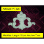Moldura Decorativa Central De Yeso Pack De 6 U.