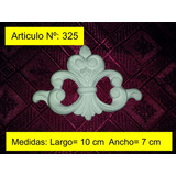 Moldura Decorativa Central De Yeso Pack De 6 U.