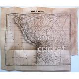 Antiguo Mapa 1844 Argentina Pcias Unidas Plata Peru Bolivia