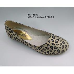 Zapato Baleta Dama Animalt Print Sintetico Envio Gratis