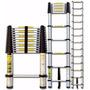Escada Telescópica Alumínio Com 10 Degraus 3,15m Botafogo