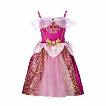 Fantasia Vestido Princesas - Aurora Bela Adormecida + Brinde