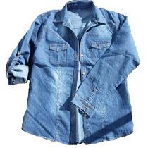 Camisa Jean Elastizado Talles Especiales Xl A 3xl