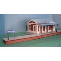 Estación De Trenes De Campo - Nvm Hobbies - Escala H0