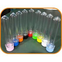 Tubos De Ensayo Plasticos Tapas De Colores