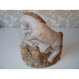 Escultura Cavalo Pedra Sabão Rústico Artesanal 1