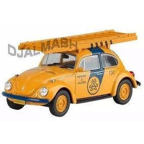 Miniatura Fusca Telesp Volkswagen Beetle Veiculos De Serviço