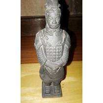 Antigua Replica En Terracota De Guerrero Chino De Xian 12 Cm