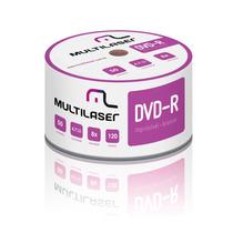 Dvd-r Multilaser 8x Mídia Printable Imprimível -100 Unidades